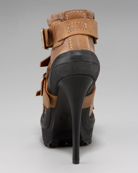 Aviator Platform Ankle Boot