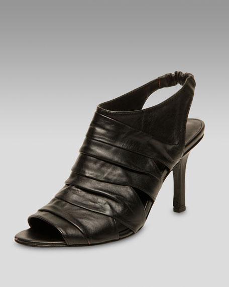 Ruched Slingback Sandal