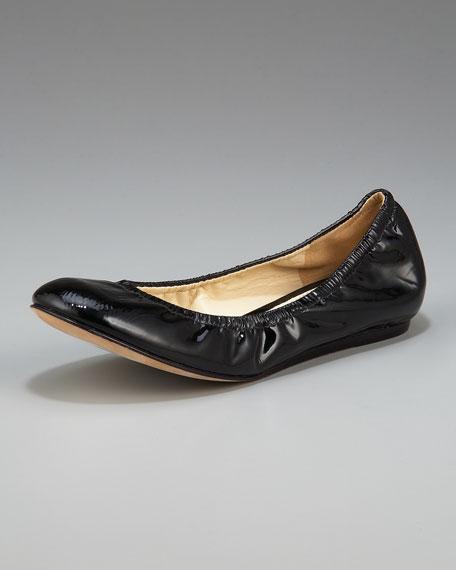 Lillian Patent Leather Ballerina Flat