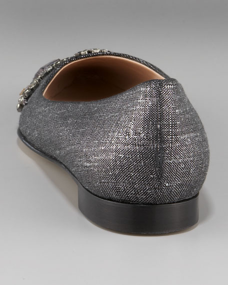 Crystal Pointed-Toe Skimmer