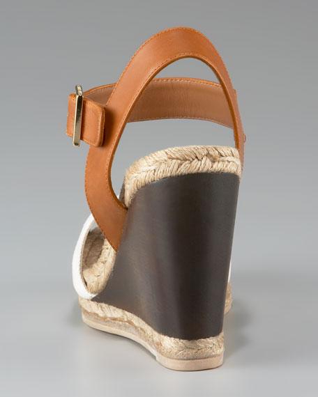 Wooden Wedge Espadrille Sandal