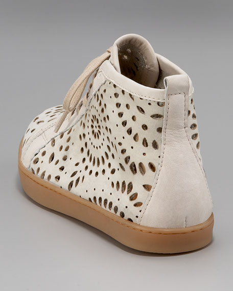 Laser-Cut Lace-Up Trainers
