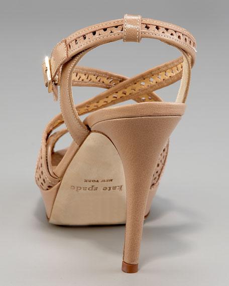 gilda perforated platform sandal