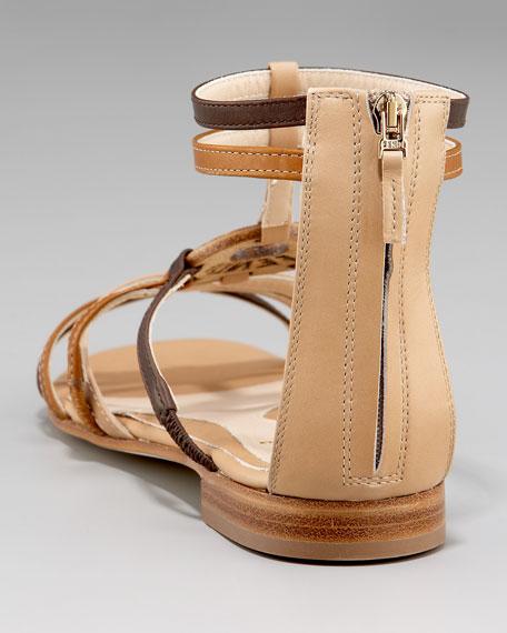 Chef Ring Flat Gladiator Sandal