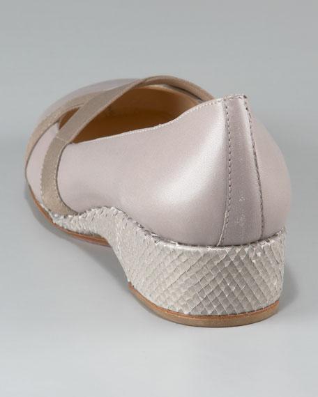 Crisscross Low-Heel Ballerina Shoe