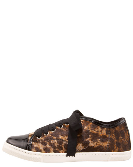 Leopard-Print Low-Top Sneaker
