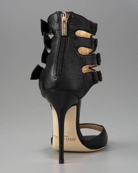 Ankle-Cuff Leather Sandal