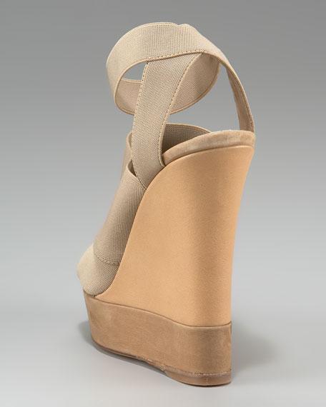 Ankle-Wrap Platform Wedge