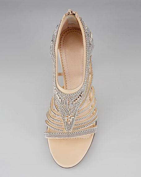 Chain Cutout Sandal