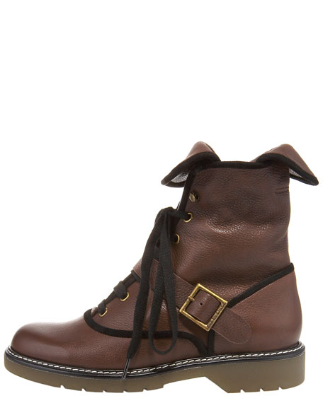 Stomper Flat Ankle Boot