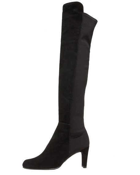 Suede Elastic-Back Boot