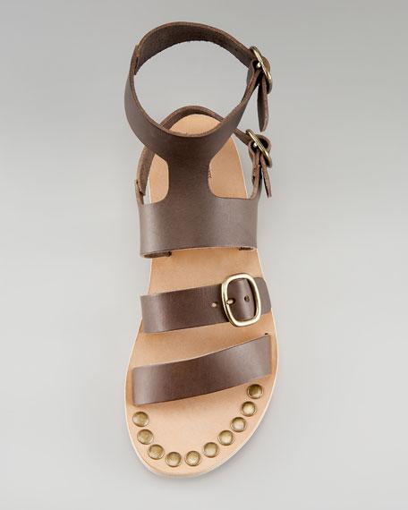 Gladiator Ankle-Strap Flat Sandal