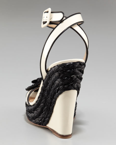 Ankle-Wrap Espadrille Wedge
