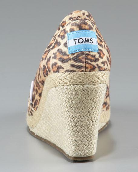 Leopard Espadrille Wedge