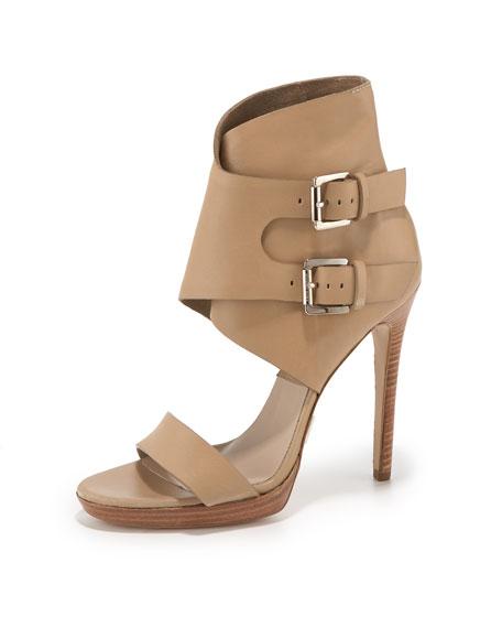 Double-Buckle Single-Strap Sandal