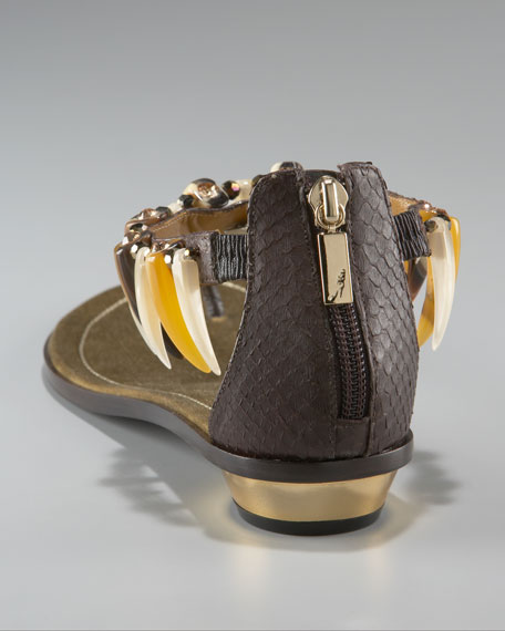 Anklet Python Thong Sandal