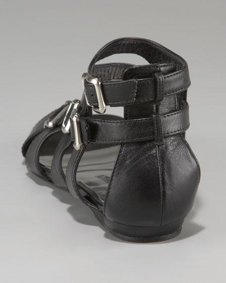 Four-Buckle Flat Sandal