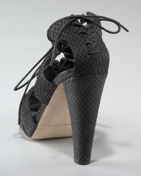 Lace-Up Snake Sandal