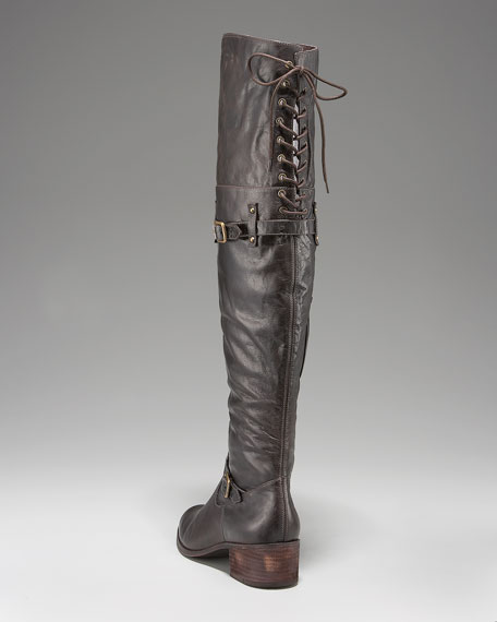 Back-Lace Over-the-Knee Boot