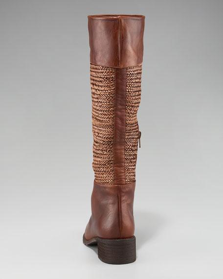 Lanyard-Shaft Knee Boot