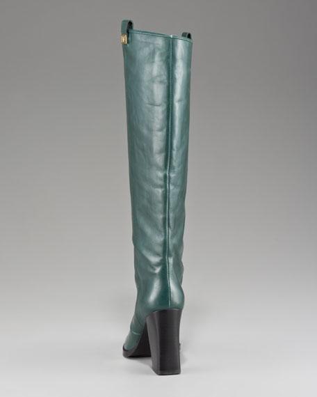 Yoko Chunky-Heel Leather Boot