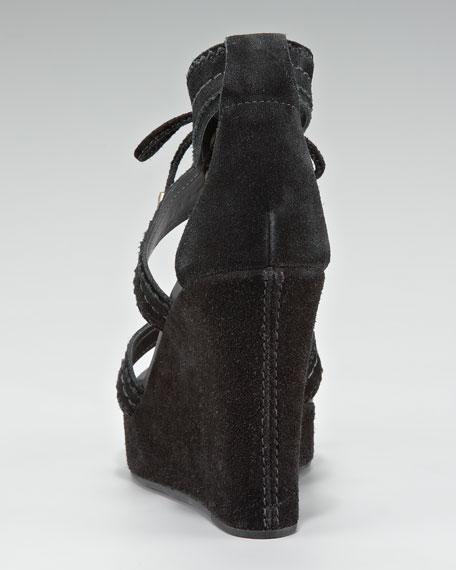 Dennie Tie Wedge Sandal