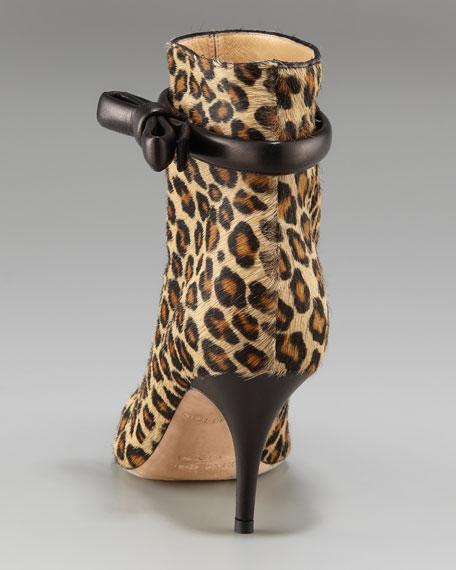 trini leopard-print bootie