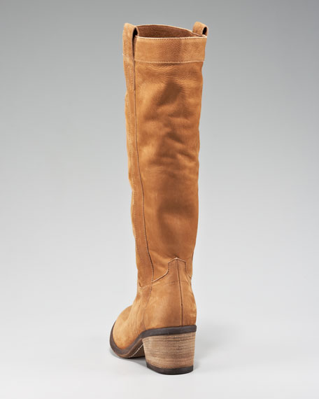 Suede Pull-On Knee Boot