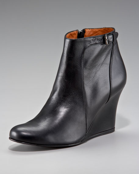 Calfskin Wedge Ankle Boot
