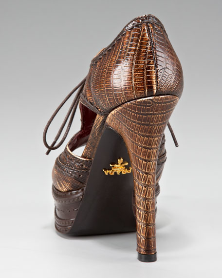 Stitched Oxford Bootie