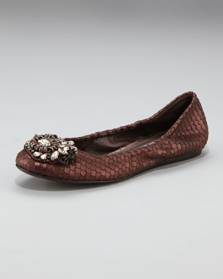 Bead-Toe Ballerina Flat