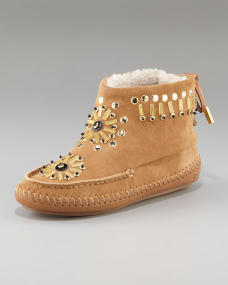 Zuzu Beaded Flat Bootie