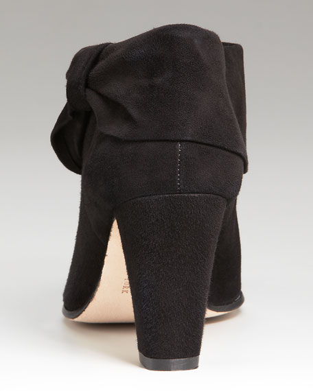 bison suede ankle bootie
