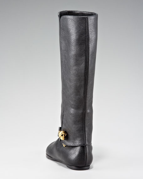 Pant-Leg Skull-Toggle Boot