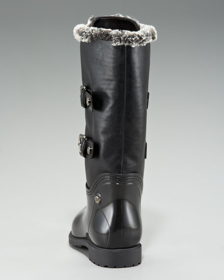 Faux-Fur-Lined Rain Boot