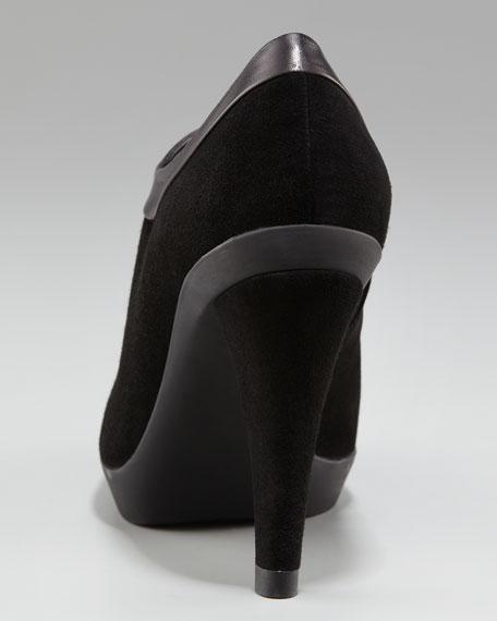 Leather-Trim Bootie