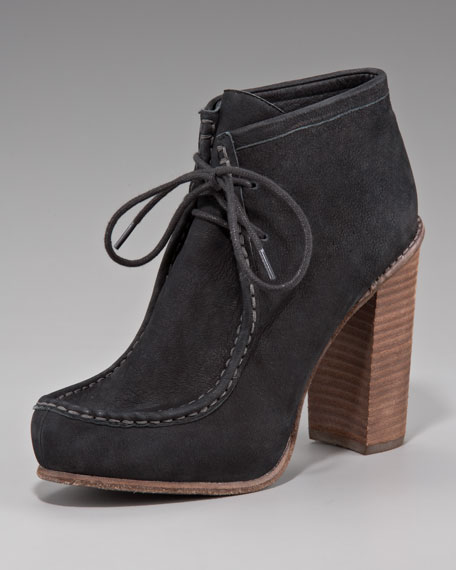 Chunky-Heel Ankle Boot