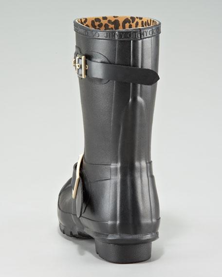 Hunter Rubber Biker Rain Boot