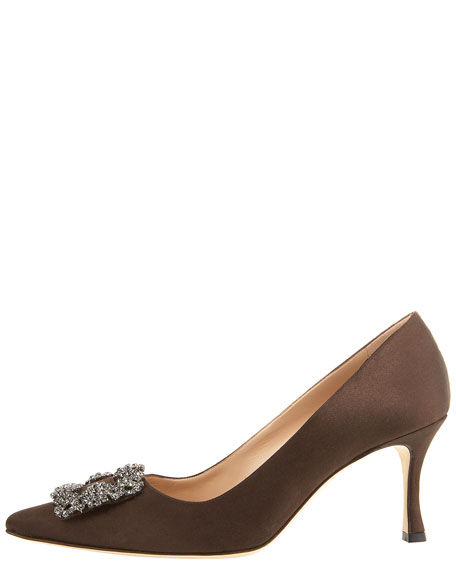 Hangisi Satin Pump, Brown