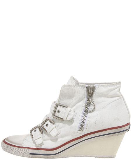 Canvas Wedge Sneaker Bootie