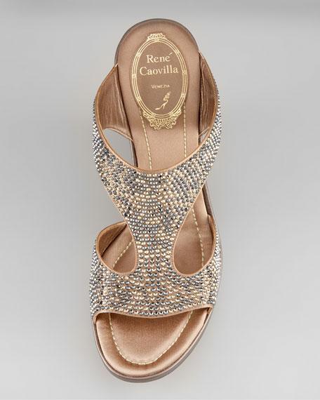 Bejeweled Wedge Sandal
