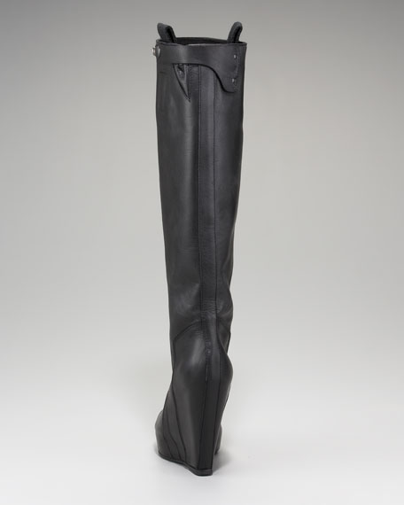 Leather Wedge Boot