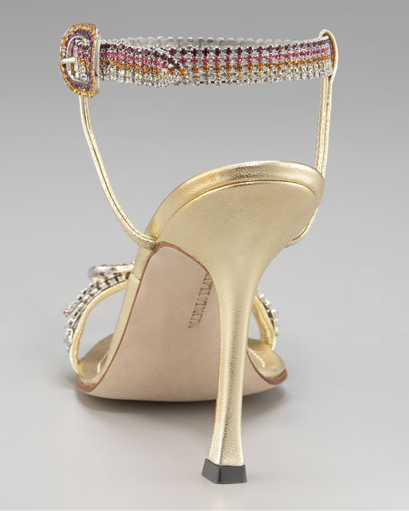 Rainbow-Crystal Sandal