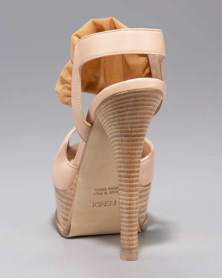 Fendista Mesh-Wrapped Sandal