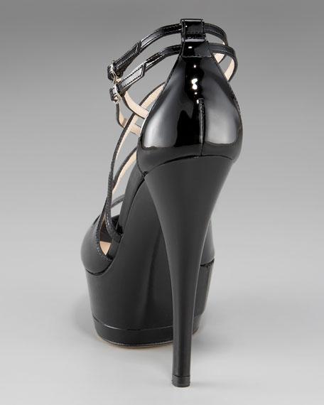 Crisscross Patent Platform Sandal