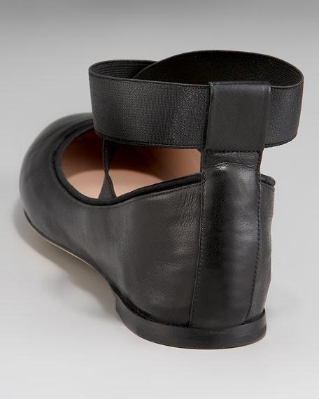 Crisscross Ballerina Flat, Black