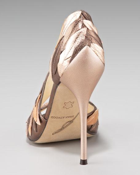 Leaf-Covered Asymmetric Sandal