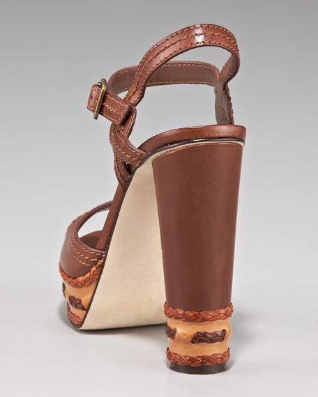 Cylinder Heel Platform Sandal