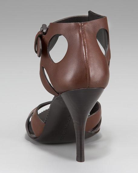 Cutout Ankle-Wrap Sandal
