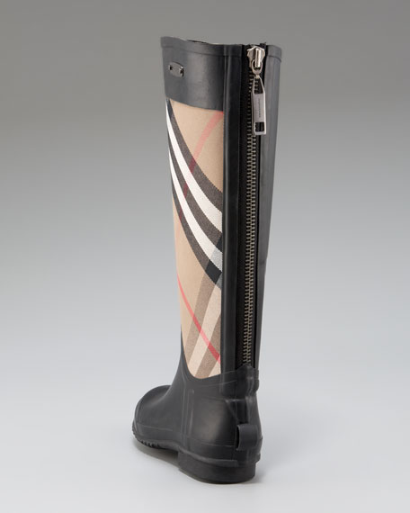 Two-Tone Check Rainboot
